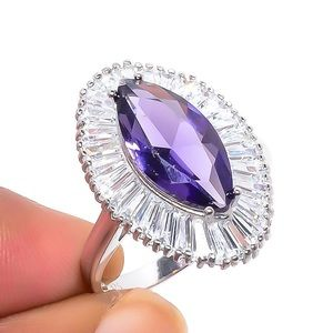 Jewelry - African Amethyst White Topaz Sterling Silver Ring